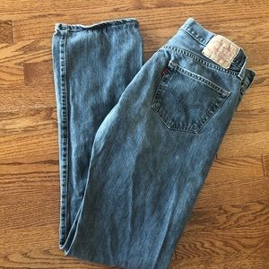 Levi's 501 Button Fly Made in Mexico Gray Jeans 34
